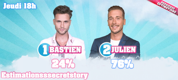 ESTIMATIONS -  Nomination N°11 : Bastien / Julien