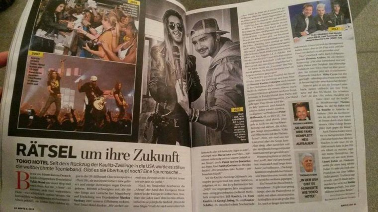 """BUNTE #23/1/2014 (Allemagne) - """"�nigme autour de leur avenir"""""""