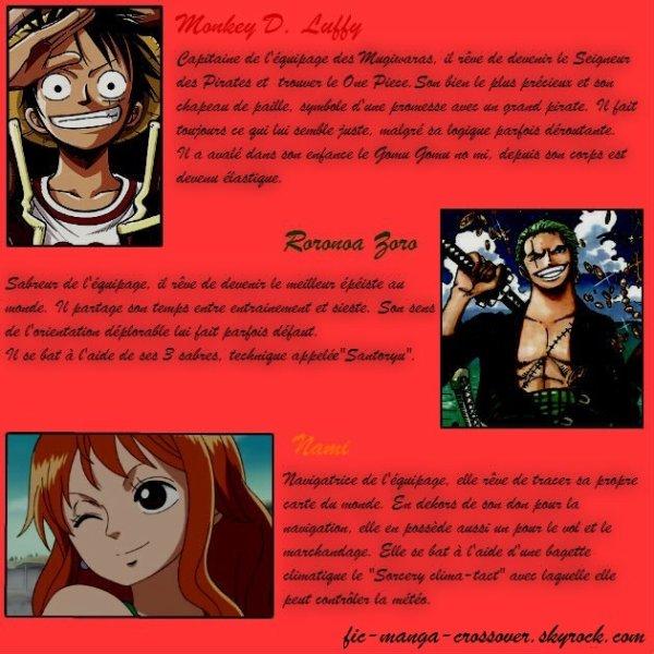 Personnages de One Piece (par Mya dans la fiction)