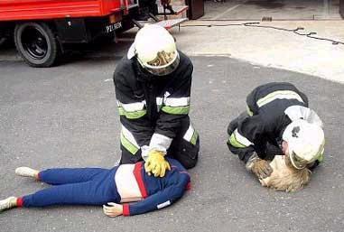 Photo drôle d'une femme pompier particulièrement laide aux États Unis