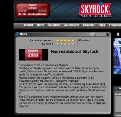 THE ET'S MADAME MÉTÉO EN ROTATION SUR SKYROCK DEPUIS LE 3 / 11 / 2010
