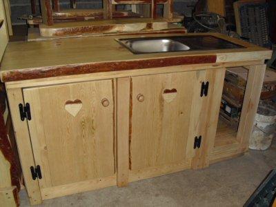 Le cote cuisine a du style locations saisonnieres au - Meubles style chalet ...