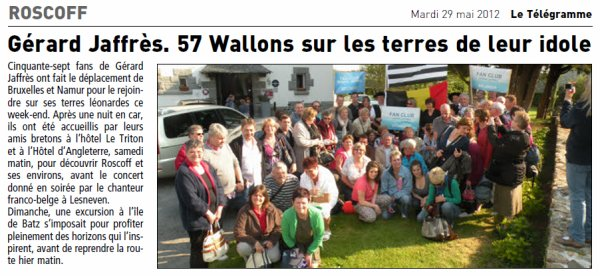 Les Fans Belges en Finist�re en 2012 !