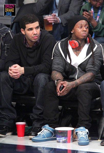 Drake At The NBA All-Star Game 2011