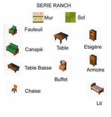 liste de meuble ranch animal crossing wild world. Black Bedroom Furniture Sets. Home Design Ideas