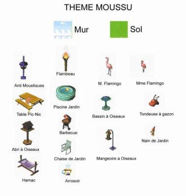 liste de meuble moussu animal crossing wild world. Black Bedroom Furniture Sets. Home Design Ideas
