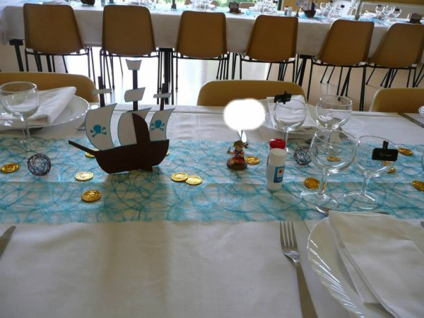 Bateau pirate http deco fetes - Decoration bapteme theme pirate ...