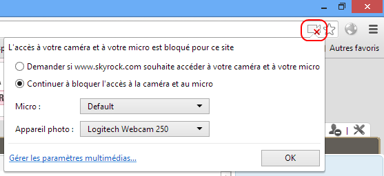 La webcam ne fonctionne pas sous Chrome ?