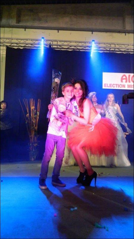 Mattéo à l'élection de Miss Lot-et-Garonne 2013