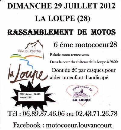 6 éme motocoeur28 le dimanche 29 jiullet 2012