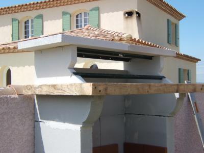 mise en place de la poutre construire son barbecue. Black Bedroom Furniture Sets. Home Design Ideas