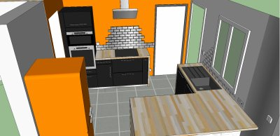 14 08 2011 modification am nagement s jour cuisine for Amenagement sejour cuisine