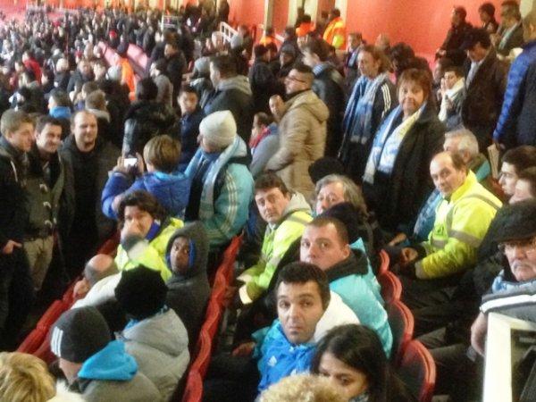 Dans la tribune avec les Marseillais ...