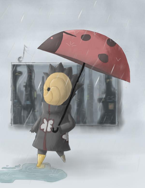 Tobi in the rain