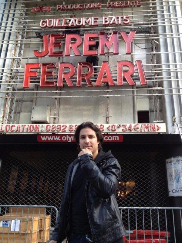 Jérémy Ferrari à l'Olympia.....la classe!!!( Bon j'y étais pas mais je vais le voir en décembre)