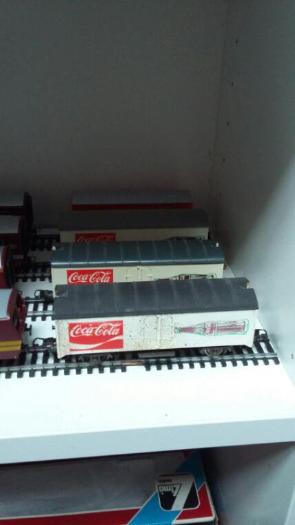Voici mes 4 Wagons Coca Cola