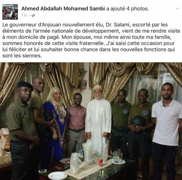 Le gouverneur SALAMI escorté par l'armée rend visite à SAMBI