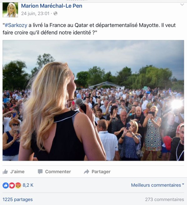 Marion Maréchal-Le Pen «Mayotte ce n'est pas la France»   Comores Infos