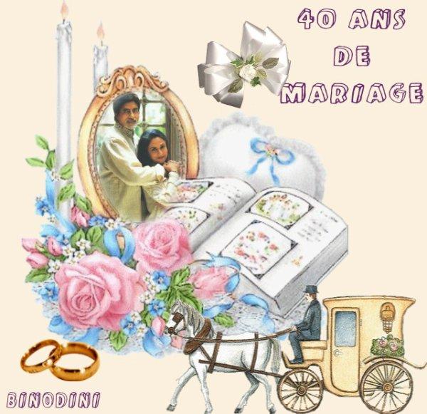 Amitahb et jaya bachchan 40 ans de mariage noces d 39 meraude le 3 6 13 blog de binodini sur - Noce de 8 ans ...