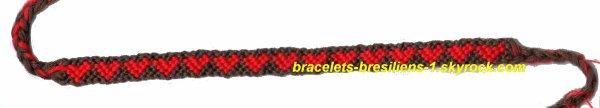 2 eme bracelet bresilien: des petits coeurs