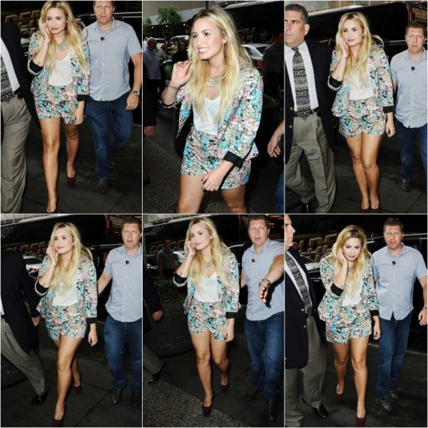 "05.09.2012 :�Demi � l'�mission Today Show � New-York +  un nouveau tatouage�intitul�"" Let's God ♥ """