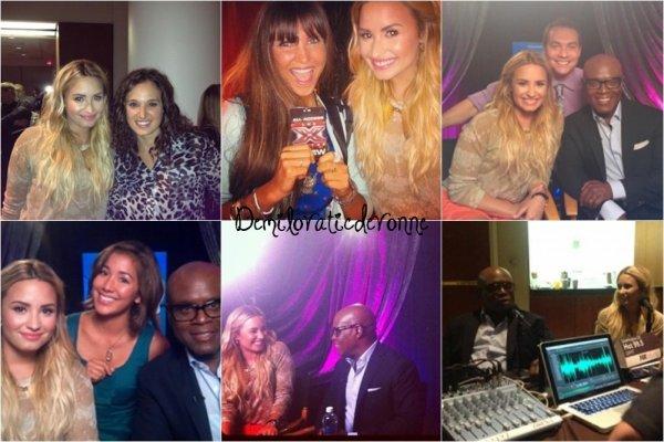 10.09.12 : Hello :) Demi et LA Reid a  une conférence de presse pour X FACTOR en Californie