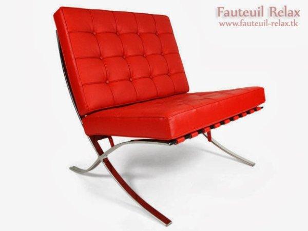 Fauteuil barcelona rouge les meilleurs des fauteuils relaxation - Meilleur fauteuil relax ...