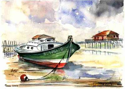 021 aquarelle pinasse artiste peintre aquarelles huiles et acryliques. Black Bedroom Furniture Sets. Home Design Ideas