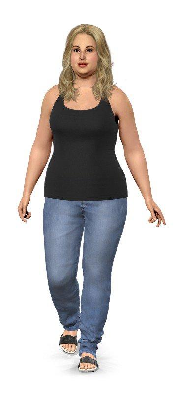 Frau 90 kg