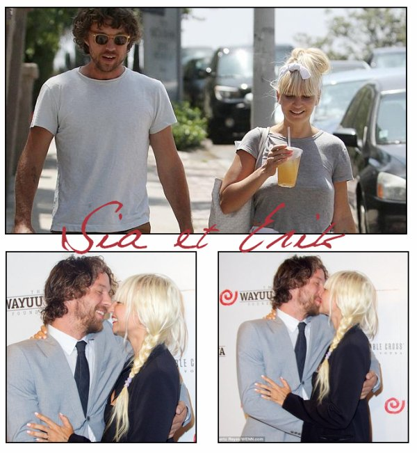 Sia est mari�e � Erik Anders Lang depuis le 2 ao�t 2014 ♥
