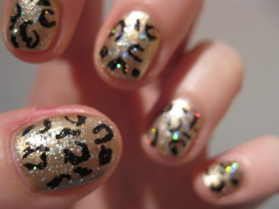 tutoriel ongles léopard