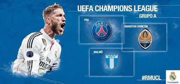 Groupe A en ligue des champions pour le Real Madrid 2015 - 2016