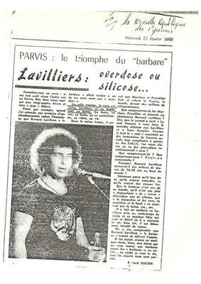 extrait de journaux de 1978 bernard lavilliers,
