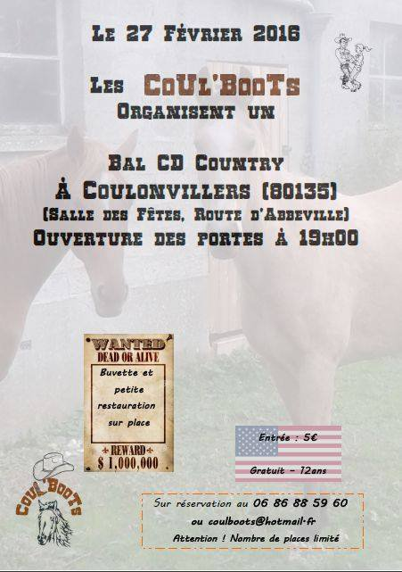 BAL COUNTRY A COULONVILLERS (80) LE 27 FEVRIER 2016