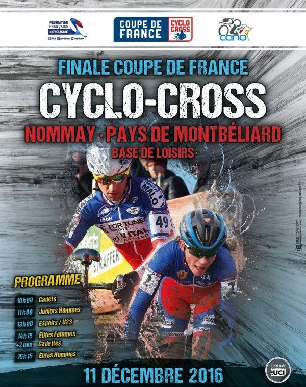 Nommay(25).Finale de la Coupe de France de Cyclo-Cross 2016 International UCI C1. Dimanche 11 Décembre 2016