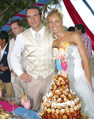 Jean dujardin et alexandra lamy bient t un b b un for Jean dujardin famille