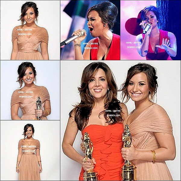 10.09.11 - Demi a �t� au ALMA Awards 2011 avec une robe Sublime ! + des Photoshoot de la Miss Lovato - 08.09.11 - Justin s'est rendu � l'�v�nement Dolce & Gabbana Celebrates Fashion's Night Out. Plutot Styler le Bieber ! + des deux photos de Twitter de Justin.