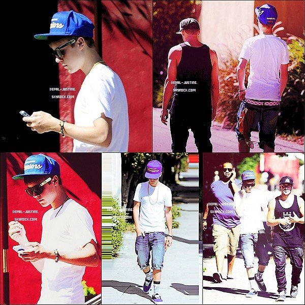 30.08.11 - Justin a �t� vue en ce promenant dans les rues de LA avec Kenny & un Danseur+ Justin a post� deux photos sur son Instagram - Le meme jour,Demi fesait des courses � Sherman Oaks, CA avec une amie.Top ou Flop ?