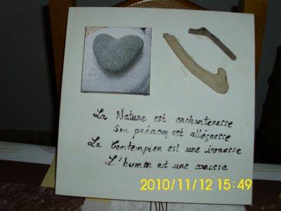 Tableau zen avec bois flotte 15 euro blog de viviecrea for Tableau avec bois flotte