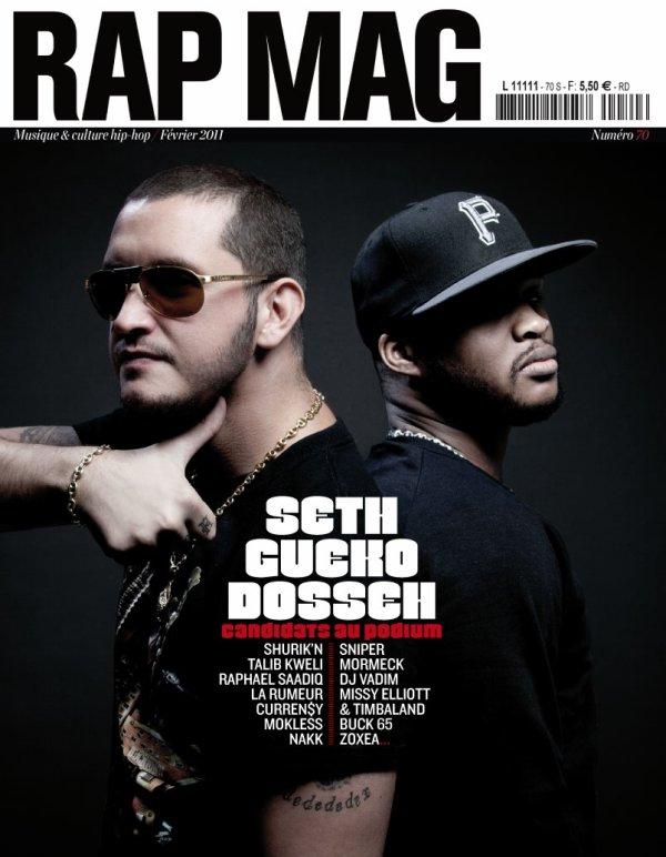 Dosseh en couverture du magazine RapMag aux côtés de Seth Gueko
