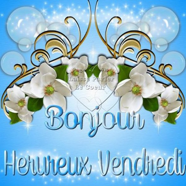 HEUREUX VENDREDI A TOUS...