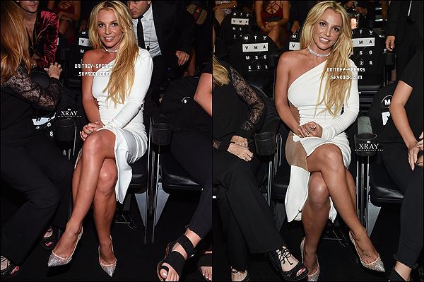 "28 ao�t 2016: Britney �tait pr�sente � la c�r�monie des ""MTV Video Music Awards"" � New York."
