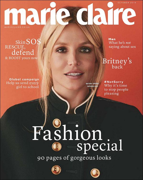 Nouveaux clich�s de Britney disponibles pour le magazine Marie Claire version UK du mois d'octobre.