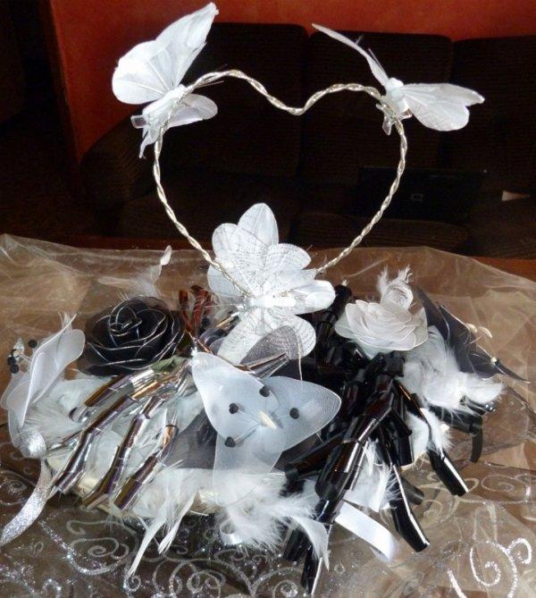 Nouvelle Commende Mariage Noir Blanc Argent Toutes D 233 Coration Fleurs Pour Mariages