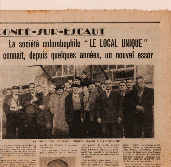 Cond� Sur Escaut en juin 1962