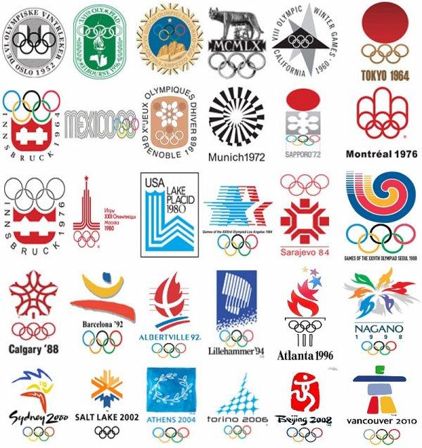 Historique des logos des Jeux Olympiques 1952-2010