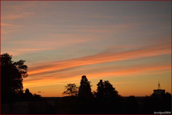 Lever du jour, le ciel se colore