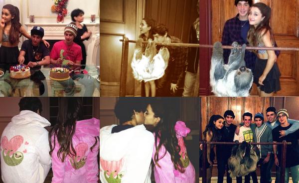 """Le 6 Mai, Ariana, sa famille et ses amis ont fêté l'anniversaire des 18 ans de Jai. Ariana lui a fait la surprise de la présence d'un paresseux. Découvrez des photos de l'anniversaire.Jai a tweeté pour Ariana : """"When your girlfriend brings you a sloth to your party, that's when you know she's a keeper❤"""". Joyeux anniversaire à Jai et son frère jumeau Luke !"""