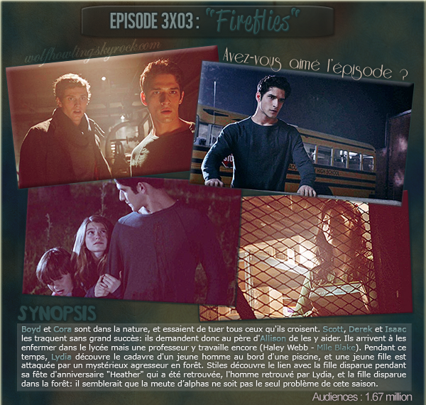 Episode 03 Saison 3 : Fireflies