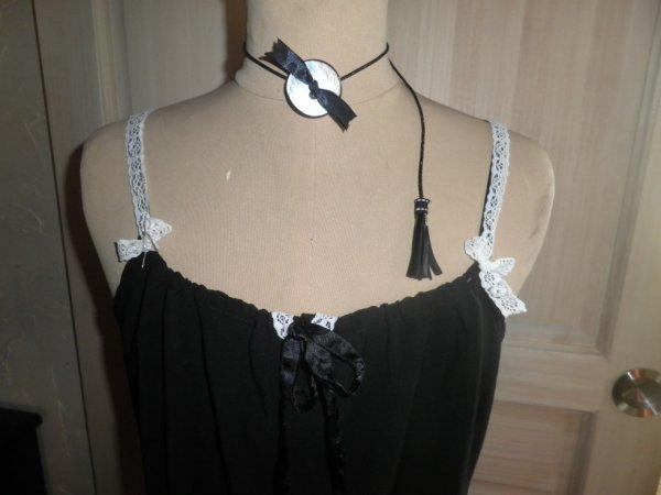 personnalisation sur robe de soirée
